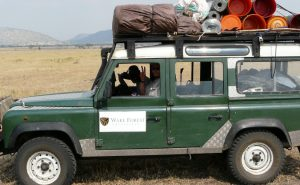 WFU Range Rover in Africa