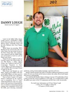 Danny Lough (MS '17) WFU Biology Alumni - Yadkin Valley Magazine Article Screenshot